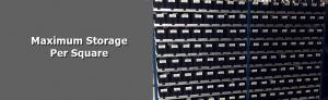 Maximum storage per square