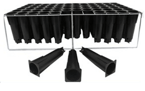 Seed trays 72 unit with galvanized stand for deep route growth