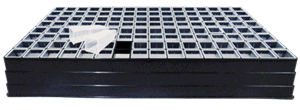 seed tray 128 unit with loose tubes