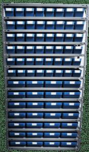 Delacombo storage unit with plastic shelf bins
